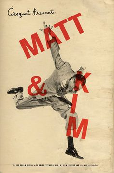 GigPosters.com - Matt And Kim #gig poster