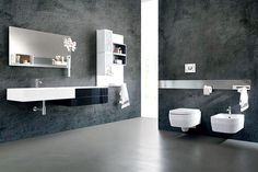 Magnetika Wall System – a New Way to Furnish a Bathroom - #bathroom, #bath, #interior, #decor