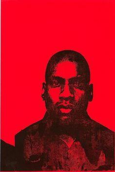Glenn Ligon - Luhring Augustine #silkscreen #red #portrait