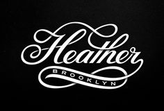 Heather_script_v2_lg #script #depth #shading #typography #grey #york #heather #bw #brooklyn #new