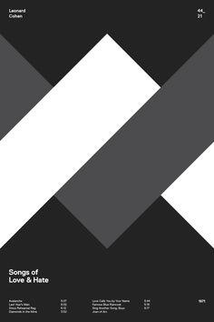 swissritual.ca #SwissRitual #graphic #design #minimal #music #grid #poster #swiss #illustration #Lenoard #Cohen