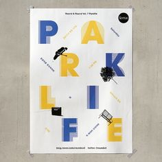 poster for the concert - Round & Round vol. 7: Parklife - Jaemin Lee #corea #print #poster