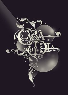 Cada Dia | Flickr - Photo Sharing! #lettering #turkish #floral #spanish #ornamental #custom #type #typography