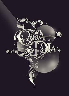 Cada Dia | Flickr - Photo Sharing! #lettering #turkish #floral #spanish #ornamental #custom #type #typography