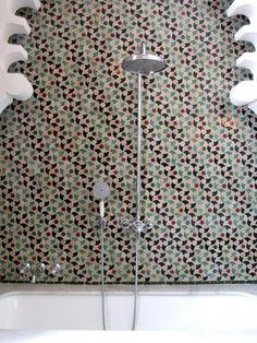 Hotel Nord Pinus Tanger #hotel #morocco #bathroom #tile