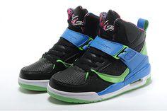 "Jordan Flight 45 High ""Bel Air"" Girls Basketball Sneakers Black Club Pink Game Royal Colors #shoes"