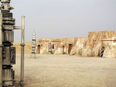 abandoned starwars film sets in the tunisian desert #wars #star