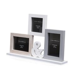 "Neutral 3Pic ""&"" Stand Collage Photo Frame, 42cm x 27cm"