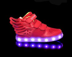 vKid's shoes hot style light up shoes LED lights red