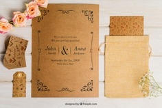 Floral cardboard wedding set Free Psd. See more inspiration related to Flower, Wedding, Mockup, Wedding invitation, Floral, Invitation, Cover, Card, Love, Template, Paper, Wedding card, Tag, Invitation card, Cute, Letter, Roses, Stationery, Elegant, Mock up, Save the date, Date, Marriage, Romantic, Engagement, Botanical, Beautiful, Up, Cardboard, Save, Flower card, Petals, Set and Mock on Freepik.
