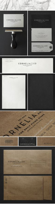 CORNELIA and CO [ Brand identity #business #card #print #design #system #identity #letterhead