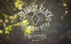 Barnaby Black — Welcome #fashion #logo #identity
