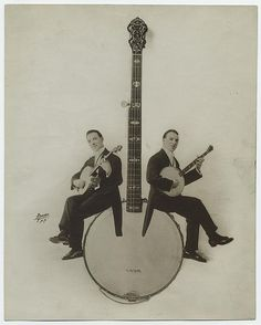 [Banjo players.] | Flickr - Photo Sharing! #old #players #photogra #banjo #vintage #instrument