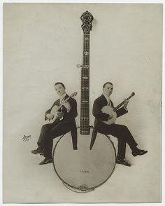 [Banjo players.] | Flickr - Photo Sharing! #old #players #photogra #banjo #vintage #instrument