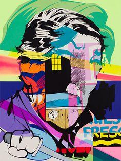 Pose P.2 - F C H I C H K 'L #pose #graffiti #painting #mixed #media