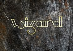 wizard #africa #design #graphic #south #graphy #wood #kimberley #identity #gold #wizard #typo #deisgn #typography