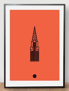 Image of Chrysler Riso Print Orange #riso #print #chrysler #poster