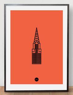 Image of Chrysler Riso Print Orange #riso #print #chrysler #poster