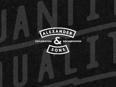 Dribbble - Alex & Sons by Matthew Genitempo #logo #overprint #typography