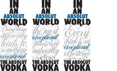 Me & My Pen - Work #advertisement #illustration #vodka #type #absolut #typography