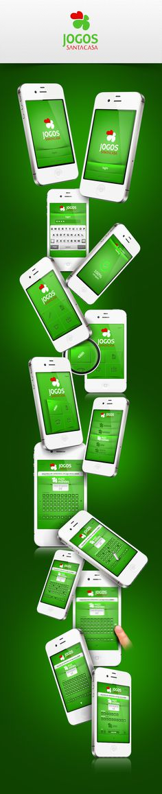 App Jogos Santa Casa #ui #iphone #app #mobile #games #web #green