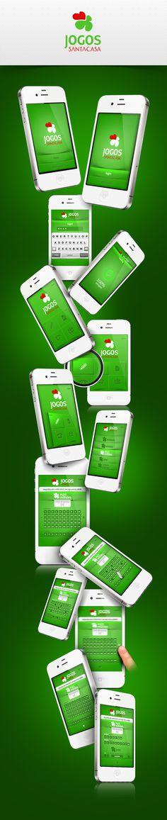 App Jogos Santa Casa #ui #iphone #app #mobile #games #web #green