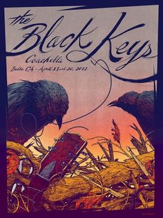 TRAGIC SUNSHINE . Black Keys COACHELLA #concert poster #kevin tong #the black keys #coachella #tragic sunshine