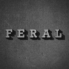 Feral (by metropolismoloch) #feral #serif #slab #style #typography