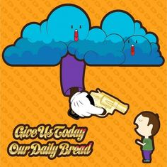 Our Daily Bread « Joce GaMo Artwork #gun #revolver #illustration #daily #our #bullet #bread