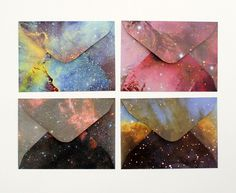 DIY galaxy envelopes #envelopes #diy #galaxy
