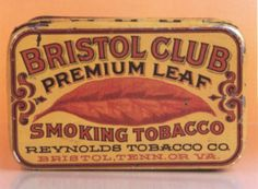 bristol club premium leaf tin #design #tin #vintage #tobacco #radness #typography