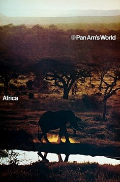 Pan Am Posters from 1971 | ONEEIGHTNINE #design #1970s #poster #africa