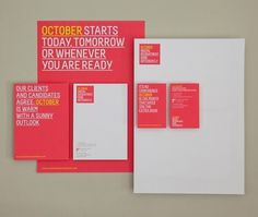 October | Lovely Stationery #design #graphic #stationary