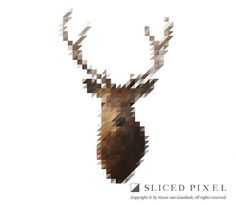 Sliced Pixel Project on the Behance Network #deer #pixel #sliced