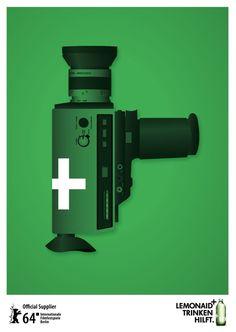 berlinale filmfestival advertisement #print #charitea #poster #lemonaid #beverages
