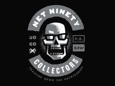 Design Gangs / NET NINETY COLLECTORS Original: http://ift.tt/X89Wdb #mark #skull