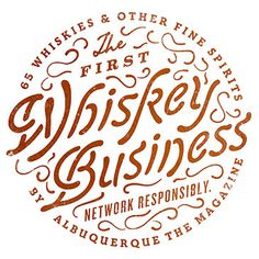 Whiskey Business Logo Typography #type #illustration #drawn #logo #hand #typography