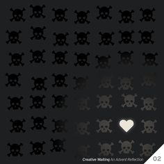 Creative Wating. design series. digital art thiskindoflove.jpg. #heart #advent #skull #light #love