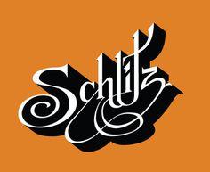 schlitz line art_905.jpg #logo #font #orange #schlitz