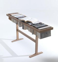 CJWHO ™ (Booken. Raw Edges by Raw Edges for LEMA...) #design #books #bookcase #photography #clever