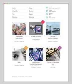 Museum of Brisbane #layout #website #web #web design