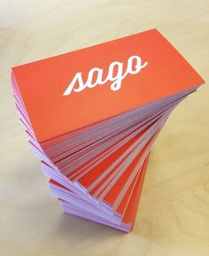 Dribbble - sago_cards_big.jpg by Bill S Kenney #print #cards #business #typography