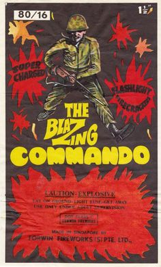 THE BLAZING COMMANDO #packaging #fireworks #blazing #commando