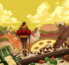 Illustration 9 on Behance #cake #playground
