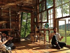 CJWHO ™ (A House Made of Windows | via In 2012, Nick...) #design #interiors #wood #architecture #cabin #windows