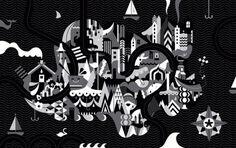 JANINE REWELL #marimekko #rewell #white #janine #black #illustration