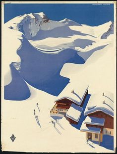 Vintage Tourism Posters - COLT + RANE #vintage #poster #winter #snow #ski #skiing #tourism #holliday