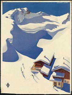Vintage Tourism Posters - COLT + RANE #tourism #ski #skiing #holliday #snow #vintage #poster #winter