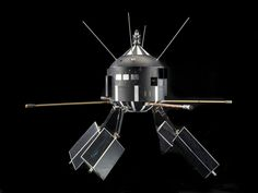 Satellite replica, Ariel 2, 1970s. Epoxy-bonded fiberglas, aluminum, other light metals and plastics. Made by Westinghouse. Ariel 2 was laun #model #satellite #replica #space #science