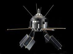 Satellite replica, Ariel 2, 1970s. Epoxy-bonded fiberglas, aluminum, other light metals and plastics. Made by Westinghouse. Ariel 2 was laun #model #satellite #replica #space #science